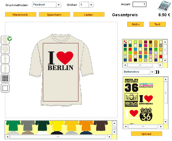 Hilfe zum Shirtdesigner